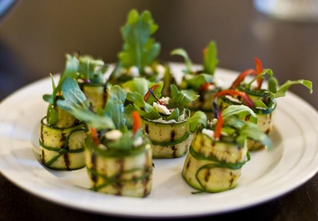 Involtini di zucchine raw