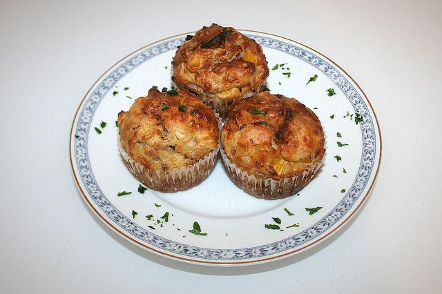 Muffin formaggio e speck