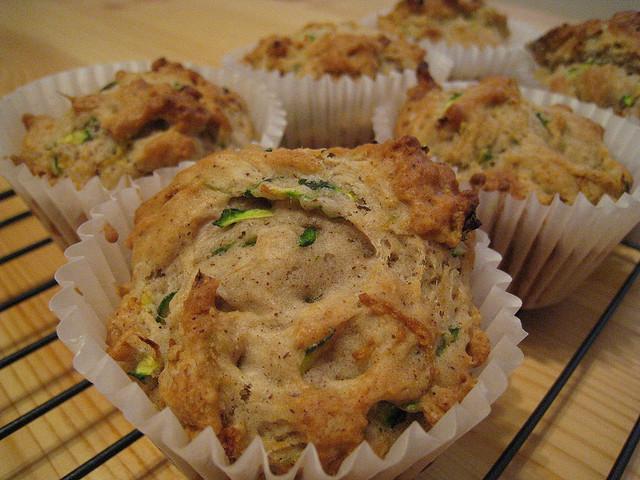 Muffin zucchine e prosciutto