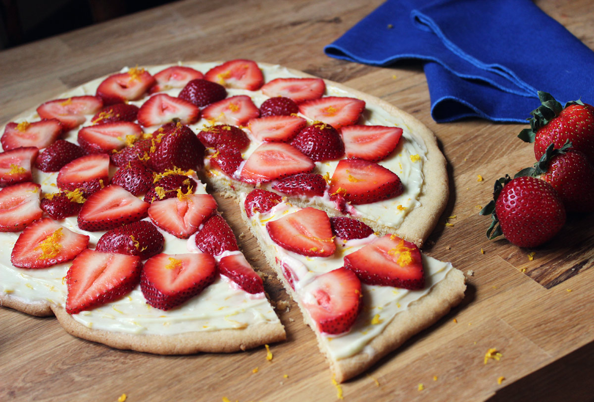 Pizza alle fragole
