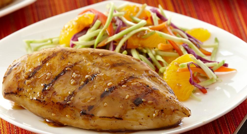 Pollo asiatico con salsa allo zenzero