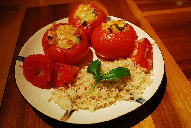 Pomodori ripieni con riso