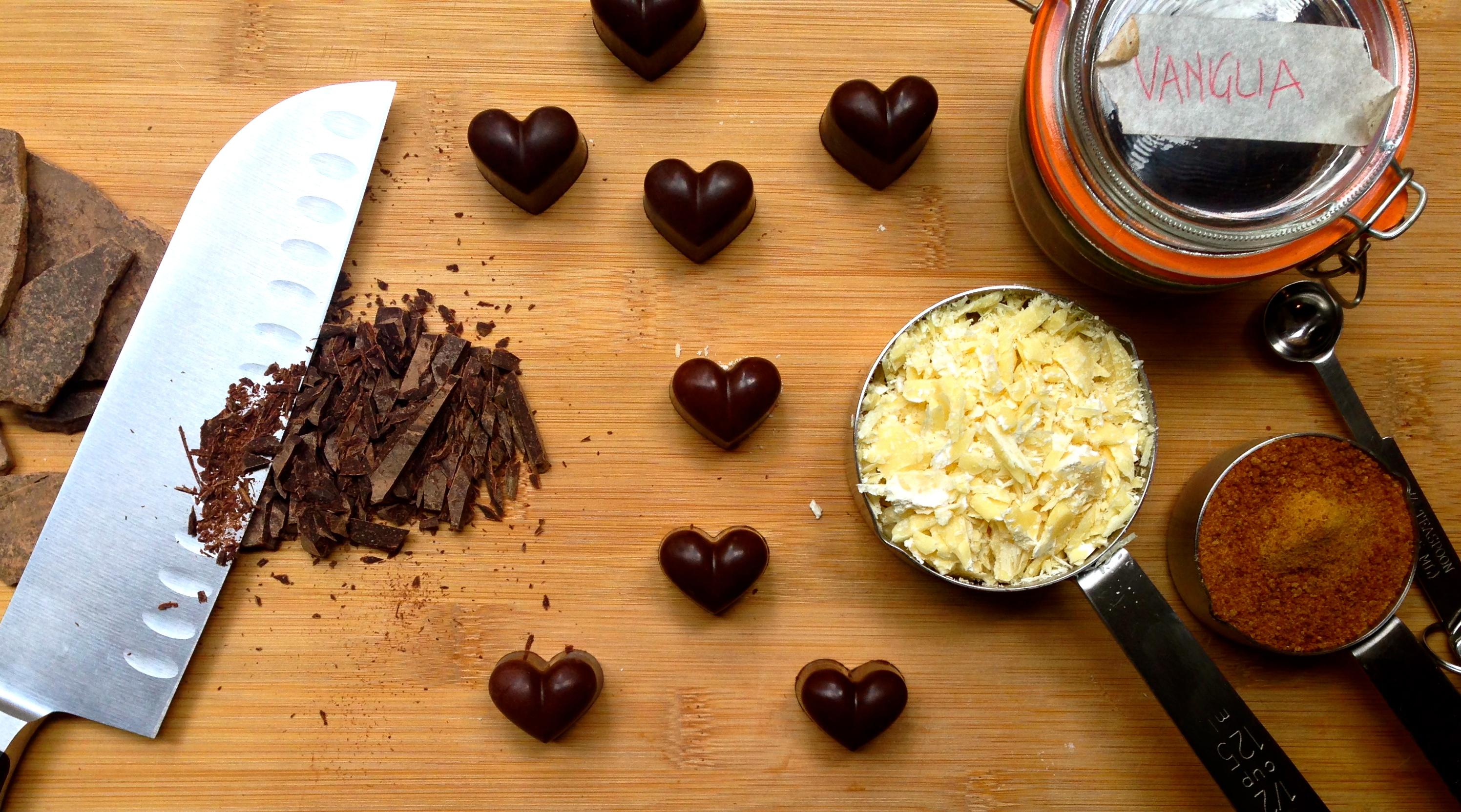 Preparazione cioccolatini