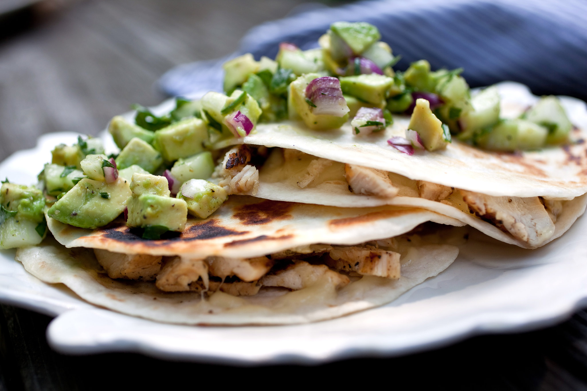Quesadillas con avocado