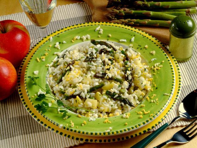 Risotto mimosa agli asparagi