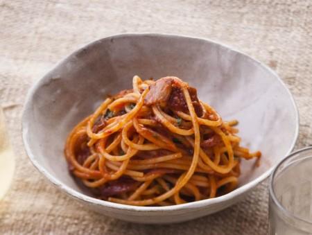 Spaghetti alla amatriciana ricetta