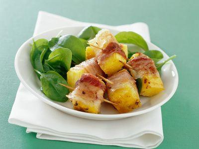 Spiedini con ananas e pancetta