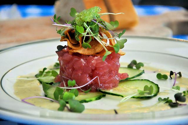 Tartare tonno e zucchine