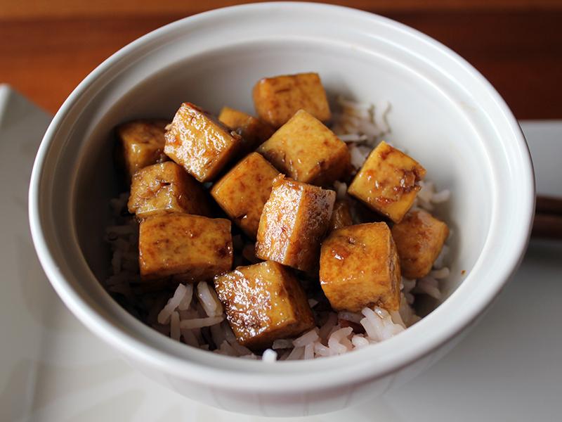 Tofu in agrodolce