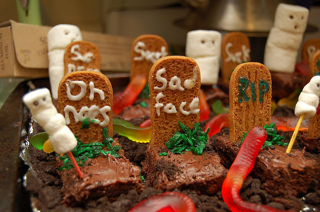 Tombe di brownies per Halloween