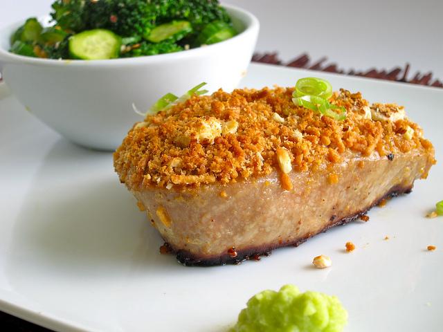 Rice Noodle Crusted Tuna