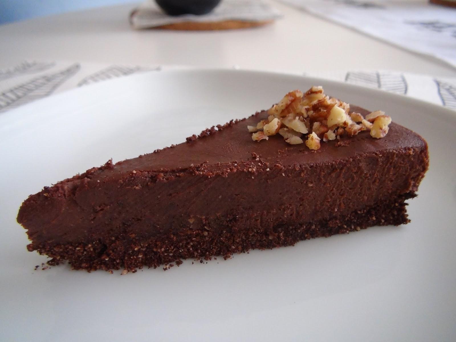 Torta al cioccolato e noci raw