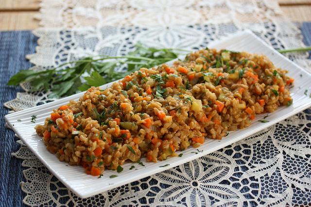 Torta di farro e zucchine