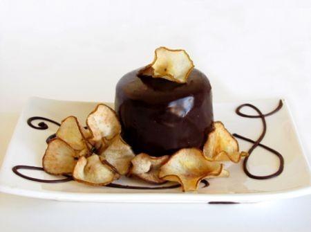 Tortini con cioccolato, ricotta e pere