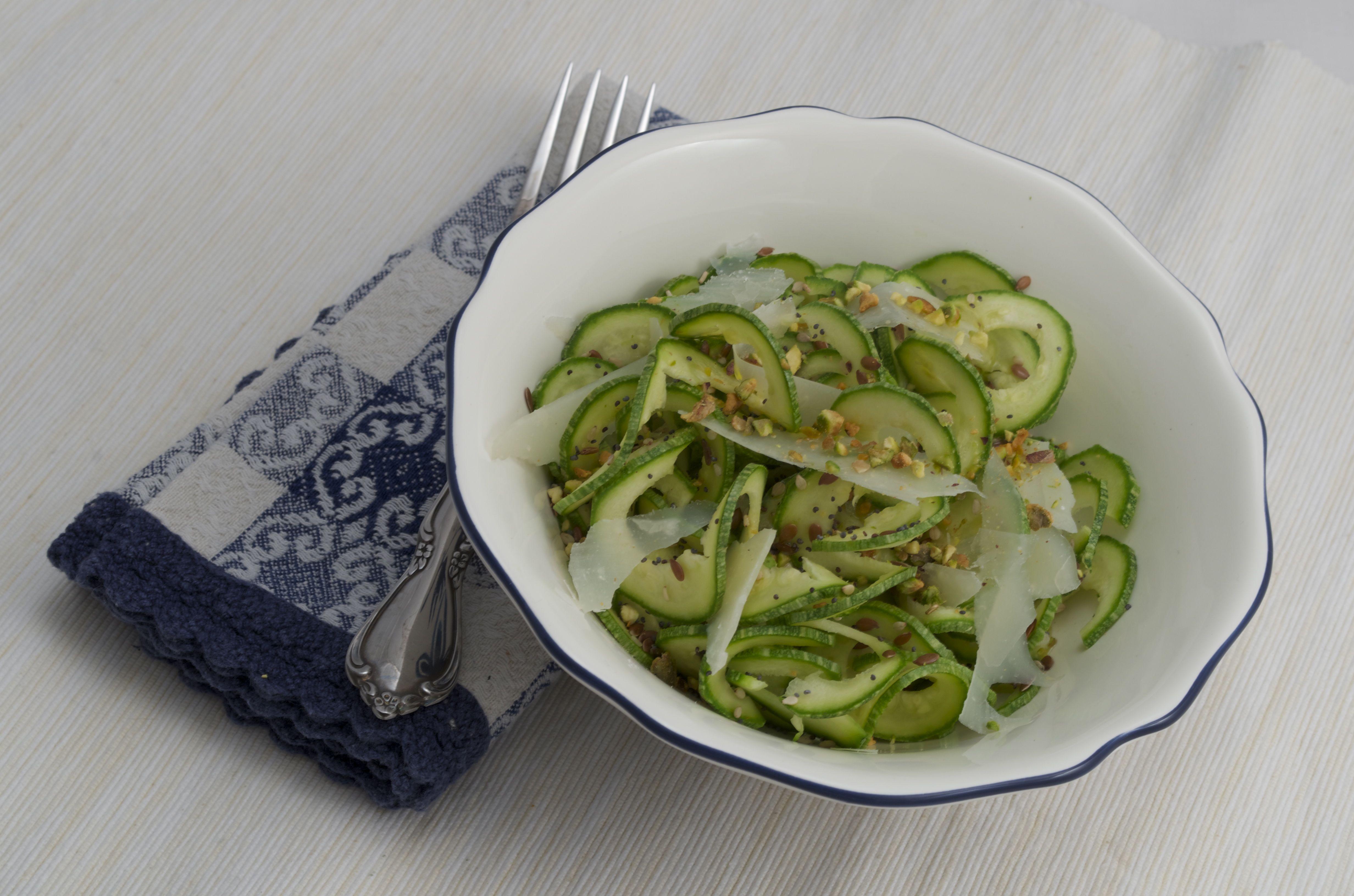 Zucchine e semi di lino