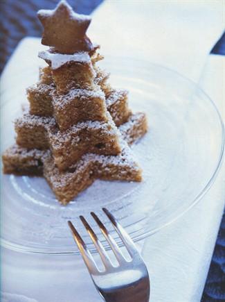 Tortine di Natale allo zenzero a forma di alberelli