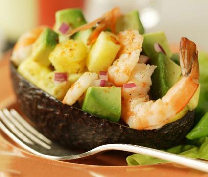 avocado gamberetti insalata