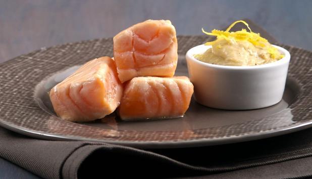 bocconcini di salmone per antipasto
