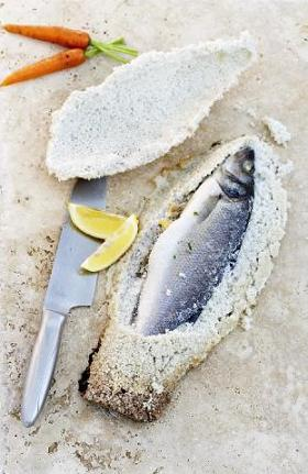 branzino sotto sale