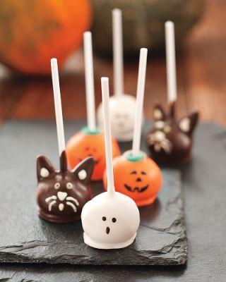 Cake pops mostruosi di Halloween