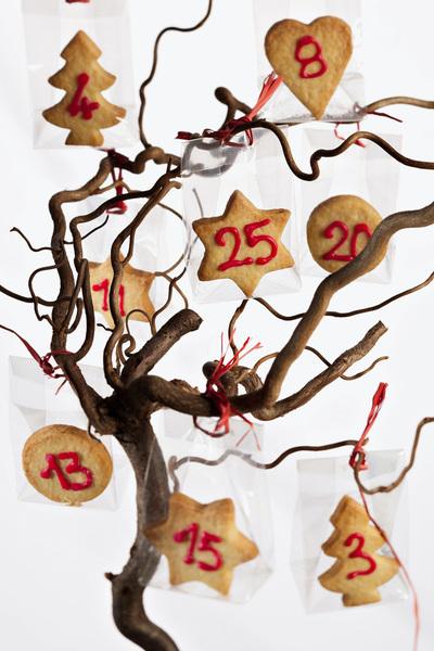 calendario avvento con biscotti