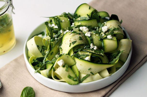 carpaccio di zucchine e avocado