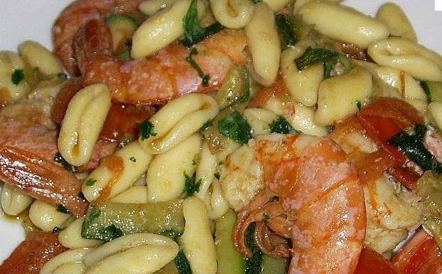 cavatelli zucchine gamberi
