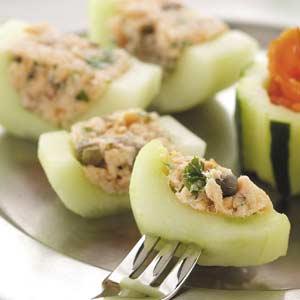 Ricette antipasti cetrioli con cuore di salmone pourfemme for Cucinare cetrioli