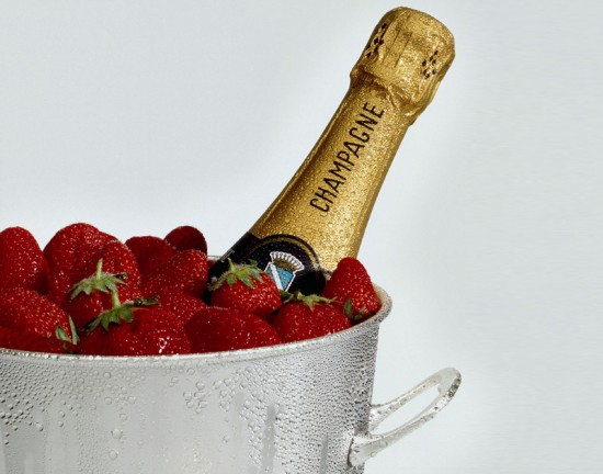 champagne e fragole