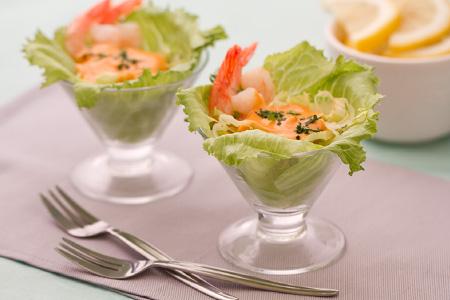 cocktail di gamberi con maionese