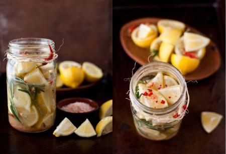 Conserva di limone e rosmarino