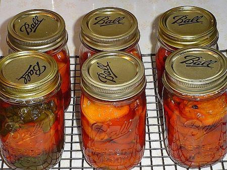 conserva di peperoni al vino
