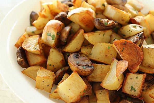 contorno patate e funghi