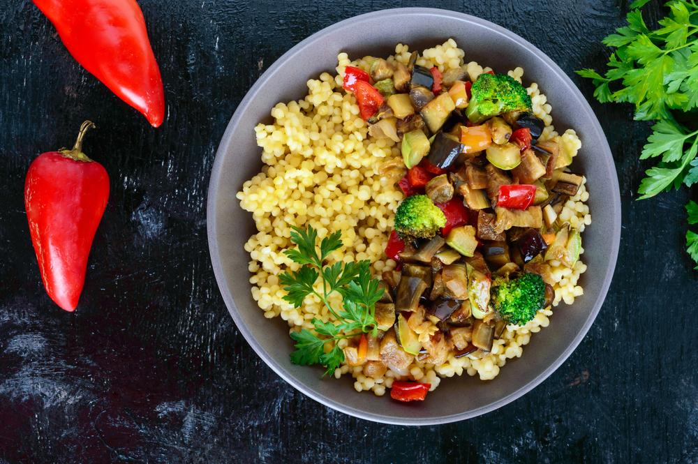 cous cous alle spezie con verdure