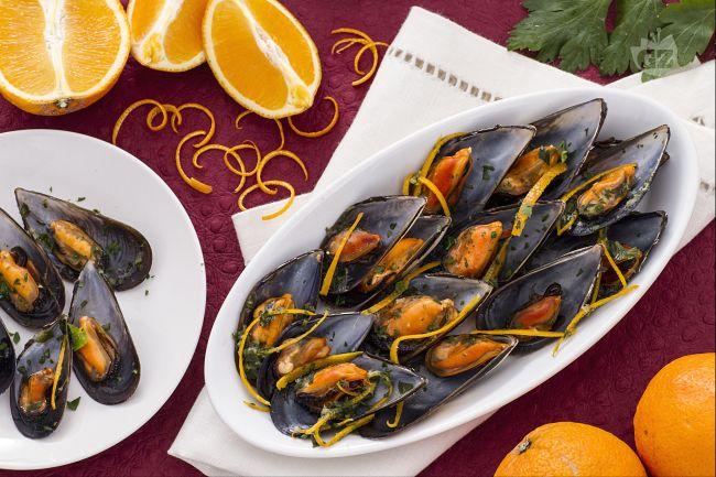 cozze con arancia e zenzero