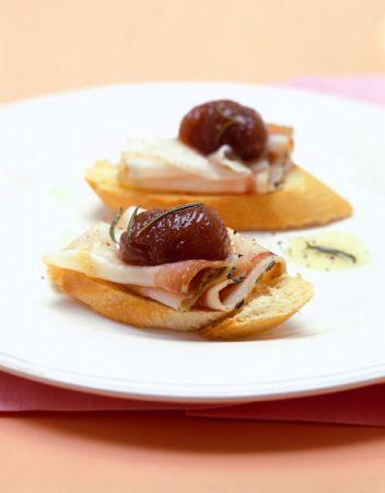 Ricette antipasti crostini con lardo e castagne pourfemme for Ricette castagne