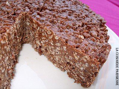 dolce di riso soffiato al cioccolato