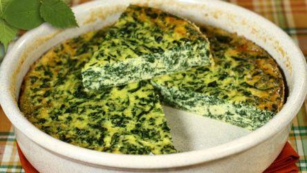 frittata al forno spinaci