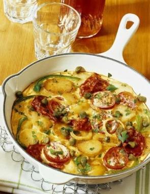 frittata con verdure miste ricetta+