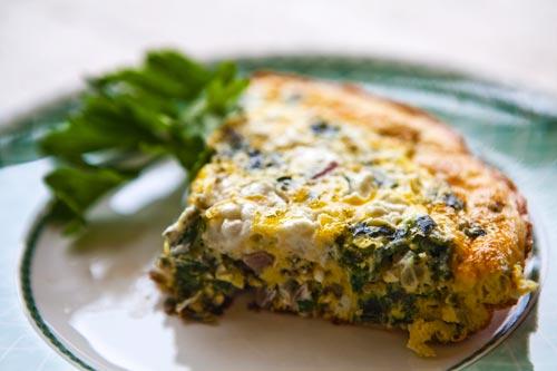 frittata ricotta spinaci.forno