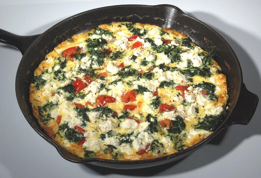 frittata spinaci al forno ricetta