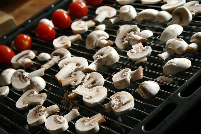 funghi champignon grigliati