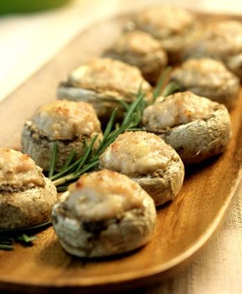 Funghi ripieni al parmigiano