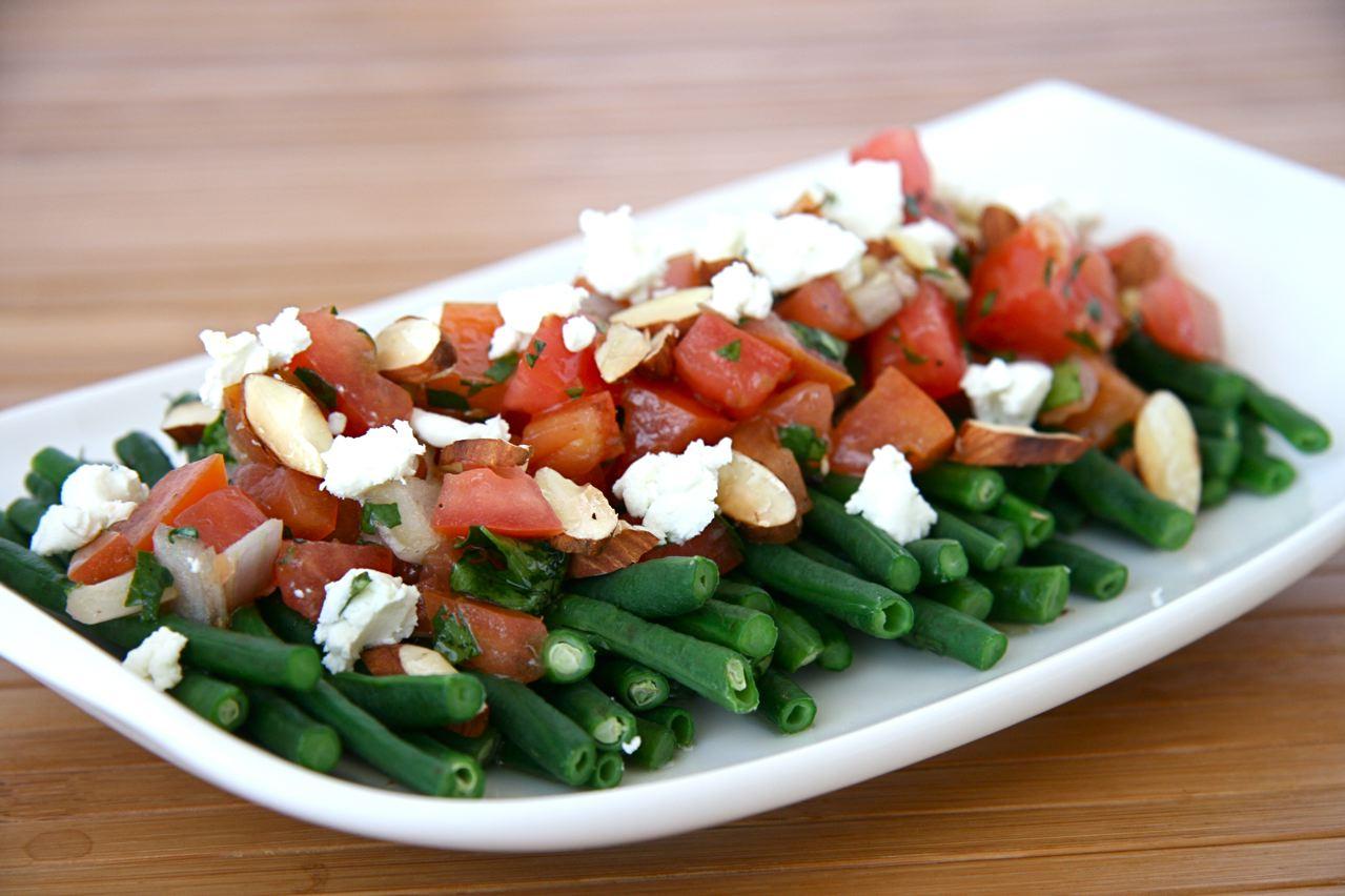 insalata di fagiolini e formaggio