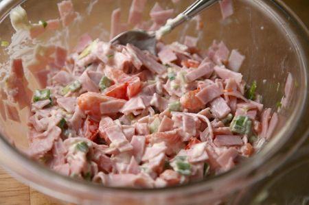 insalata di prosciutto