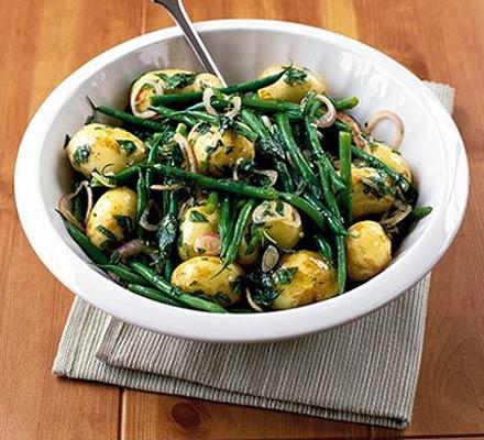 insalata fagiolini patate uova