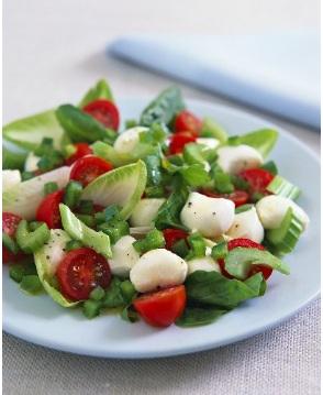 insalata mozzarella fiori di zucca