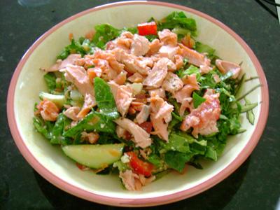 insalata al salmone