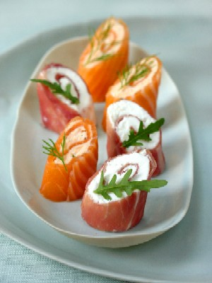 involtini salmone e panna