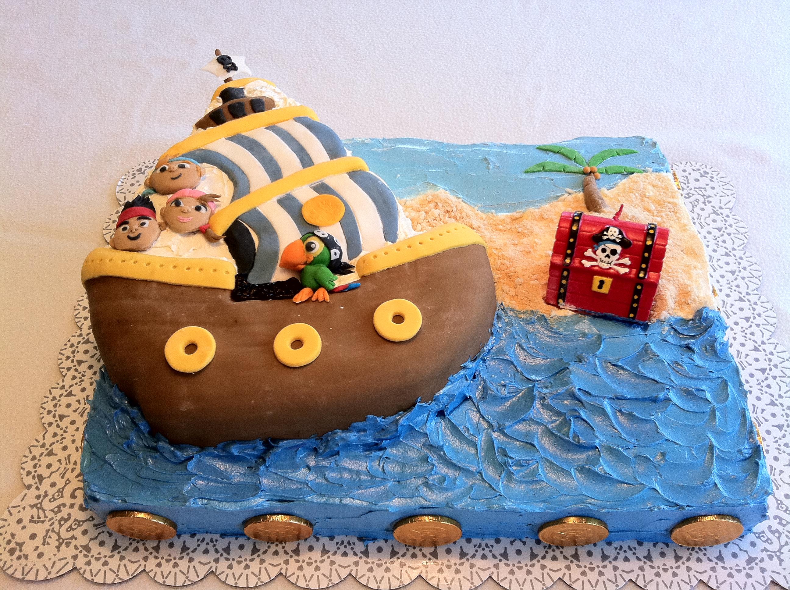 jake e i pirati torta quadrata